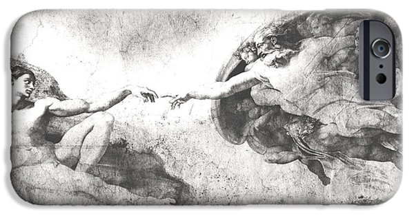 The Church Mixed Media iPhone Cases - The Creation Of Adam iPhone Case by Stefano Senise