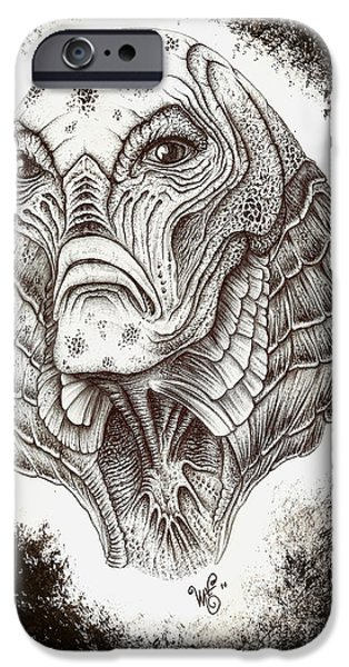Wave Art iPhone Cases - The Creature from the Black Lagoon iPhone Case by Wave