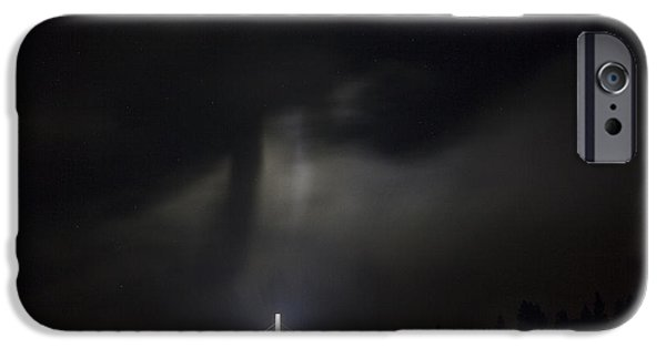 Night Angel iPhone Cases - The Cross and Jesus iPhone Case by John Harwood