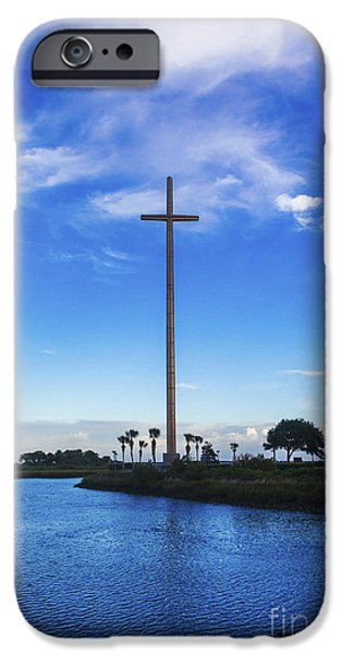 Nombre iPhone Cases - The Cross Marks the Spot iPhone Case by Diane Macdonald