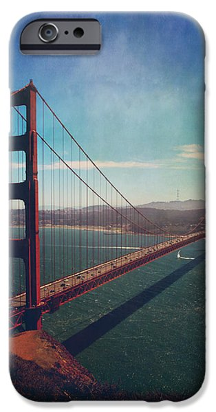 Bay Bridge iPhone Cases - The Crossing iPhone Case by Laurie Search