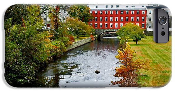 Blackstone River iPhone Cases - The Crown and Eagle Mill iPhone Case by Jim  Calarese