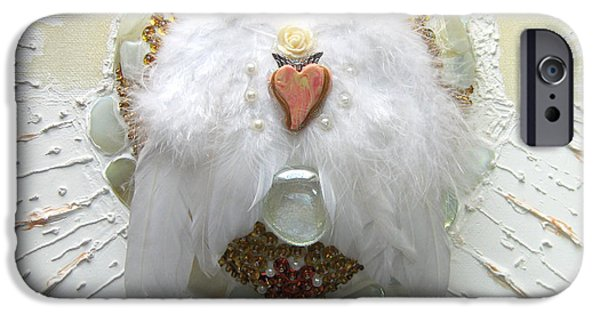Magical Reliefs iPhone Cases - The crowning of the pure heart iPhone Case by Heidi Sieber