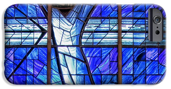 Interior Glass iPhone Cases - The Crucifixion  iPhone Case by Mountain Dreams