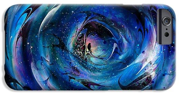 Spirit Hawk iPhone Cases - Crystal Ball iPhone Case by Rachel Christine Nowicki