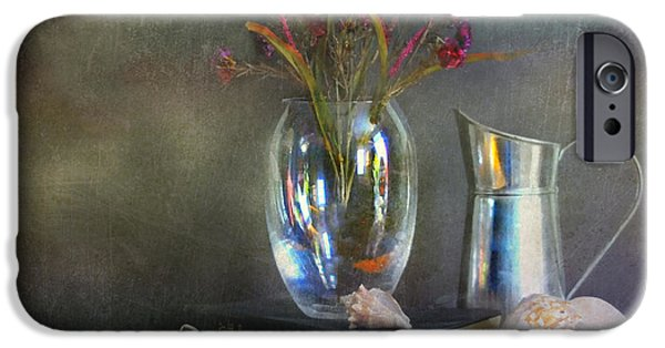 Still Life With Pitcher iPhone Cases - The Crystal Vase iPhone Case by Diana Angstadt