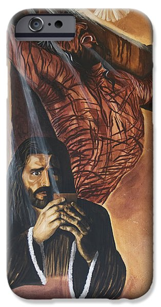 Crucifixtion iPhone Cases - The Cup iPhone Case by Renee Nolan-Riley