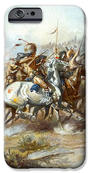 The Custer Fight iPhone Case by Charles Russell