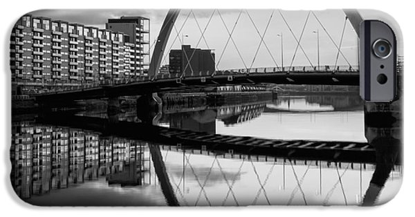 Monotone iPhone Cases - The Cyde Arc Squinty Bridge iPhone Case by John Farnan