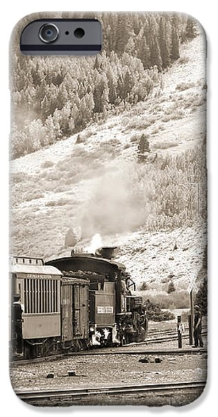 The D and S Pulls Into The station iPhone Case by Mike McGlothlen