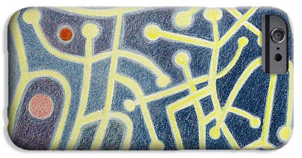 Fireball iPhone Cases - The Dance, 1985 Oil Pastel On Paper iPhone Case by Peter Davidson