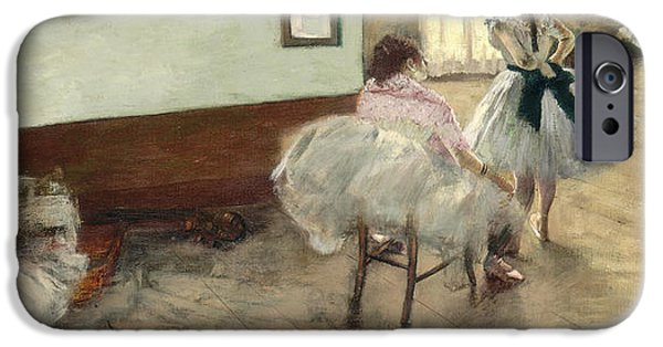 Ballet Dancers Photographs iPhone Cases - The Dance Lesson, C.1879 Oil On Canvas iPhone Case by Edgar Degas