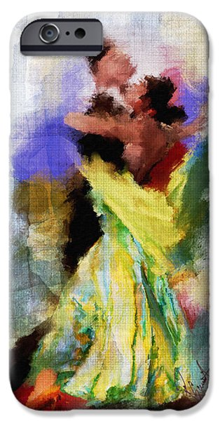 Dance Floor Paintings iPhone Cases - The Dance iPhone Case by Robert Smith