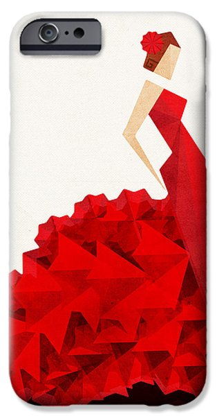 Abstract Fashion Art iPhone Cases - The Dancer Flamenco iPhone Case by VessDSign