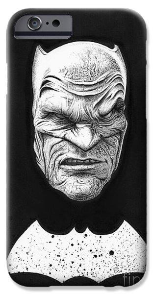 Wave Art iPhone Cases - The Dark Knight iPhone Case by Wave