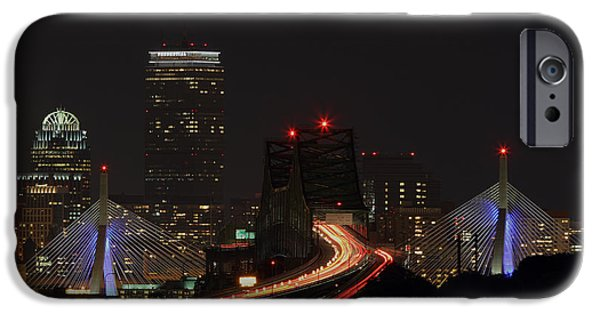 Malone iPhone Cases - The Dark Side of Boston iPhone Case by Juergen Roth