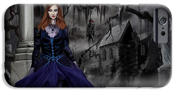 Hangman iPhone Cases - The Darkness of the South iPhone Case by James Christopher Hill