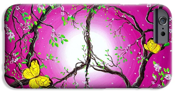 Cherry Blossoms iPhone Cases - The Dawn of Peace iPhone Case by Laura Iverson