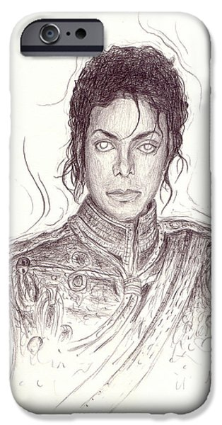Mj Drawings iPhone Cases - The Day After iPhone Case by Michael Morgan