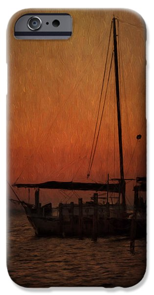 Sailboats Docked iPhone Cases - The Day is Done iPhone Case by Kim Hojnacki