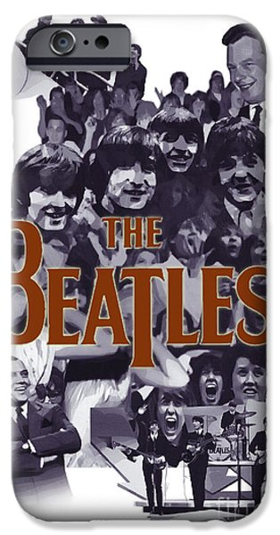 Beatles iPhone Cases - The Day Music Changed Forever iPhone Case by Joseph Juvenal