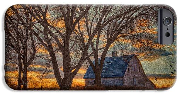 Nebraska iPhone Cases - The Days Last Kiss iPhone Case by Nikolyn McDonald