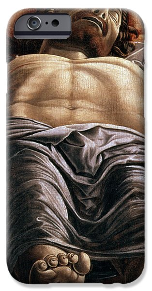 Wounded iPhone Cases - The Dead Christ iPhone Case by Andrea Mantegna