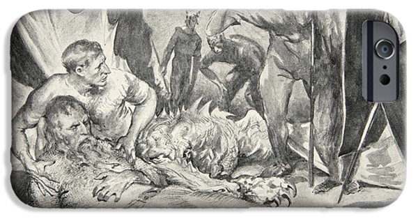 Fable iPhone Cases - The Death of Beowulf iPhone Case by John Henry Frederick Bacon