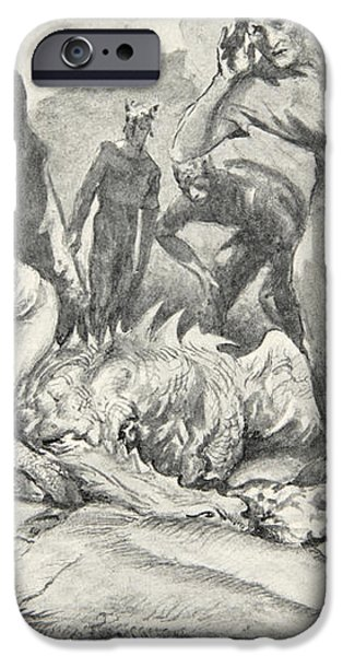 The Death of Beowulf iPhone Case by John Henry Frederick Bacon