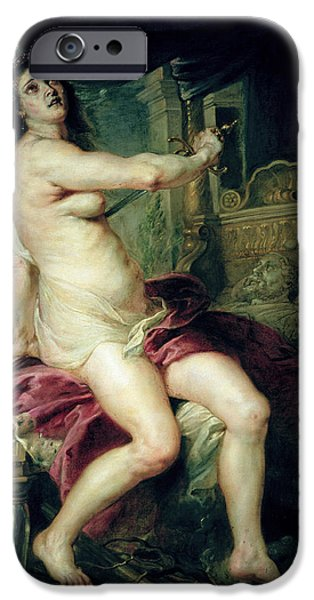 Rubens iPhone Cases - The Death of Dido iPhone Case by Rubens