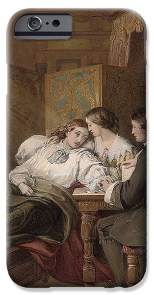 Furniture iPhone Cases - The Death of Rochester iPhone Case by Alfred Thomas Derby