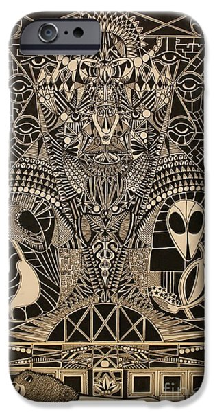 Son Of God Drawings iPhone Cases - The Death Of The Nephilim King iPhone Case by Michael Kulick