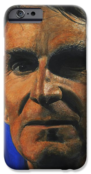 Science Paintings iPhone Cases - The Debater- Bill Nye  iPhone Case by Simon Kregar