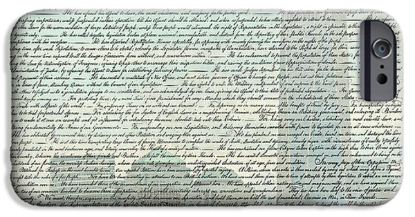 Constitution iPhone Cases - The Declaration of Independence - Freedom Tower iPhone Case by Stephen Stookey