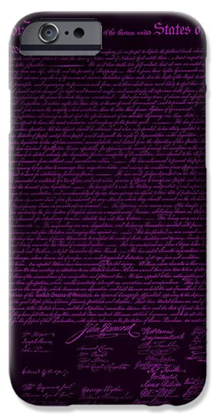 THE DECLARATION OF INDEPENDENCE in NEGATIVE PURPLE iPhone Case by ROB HANS
