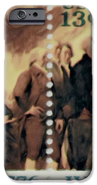 The Declaration of Independence  iPhone Case by Lanjee Chee