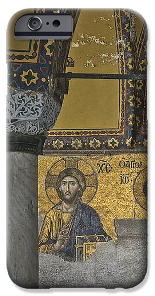 The Deesis mosaic at Hagia Sophia iPhone Case by Ayhan Altun