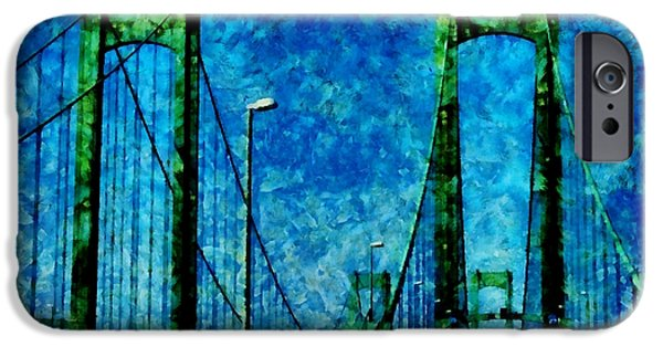 The Delaware Memorial Bridge iPhone Case by Angelina Vick