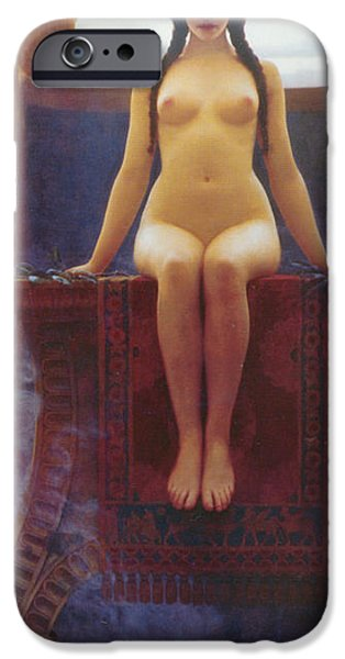 Oracle iPhone Cases - The Delphic Oracle iPhone Case by John William Godward