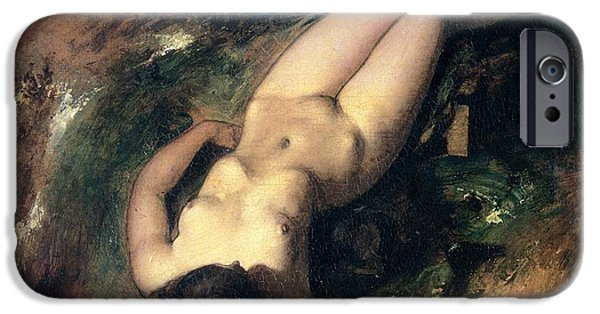 Erotica Paintings iPhone Cases - The Deluge iPhone Case by William Etty