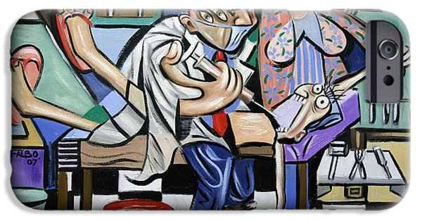 Famous Artist iPhone Cases - The Dentist Is In iPhone Case by Anthony Falbo