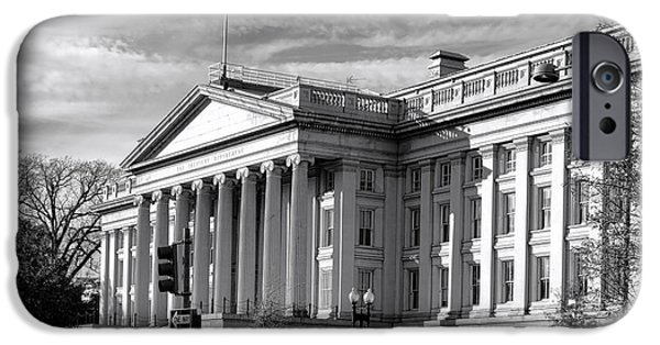 D.c. iPhone Cases - The Department of Treasury iPhone Case by Olivier Le Queinec