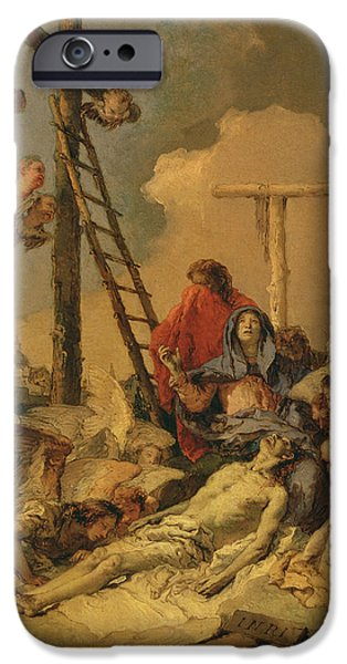 Mourn iPhone Cases - The Deposition iPhone Case by Giovanni Battista Tiepolo