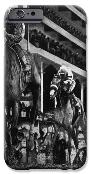 Kentucky Derby Drawings iPhone Cases - The Derby iPhone Case by Matt Pascucci