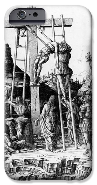 The Descent from the Cross iPhone Case by Andrea Mantegna