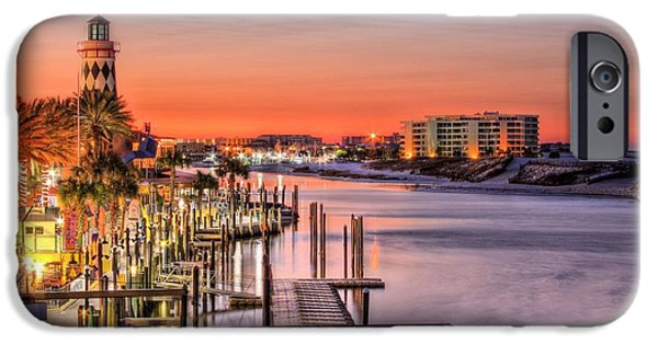 Florida Panhandle iPhone Cases - The Destin Harbor Walk iPhone Case by JC Findley