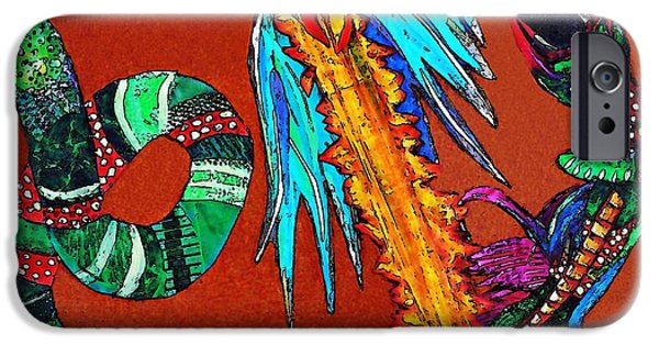 Serpent Mixed Media iPhone Cases - The Destruction of Evil 2 iPhone Case by Sarah Loft