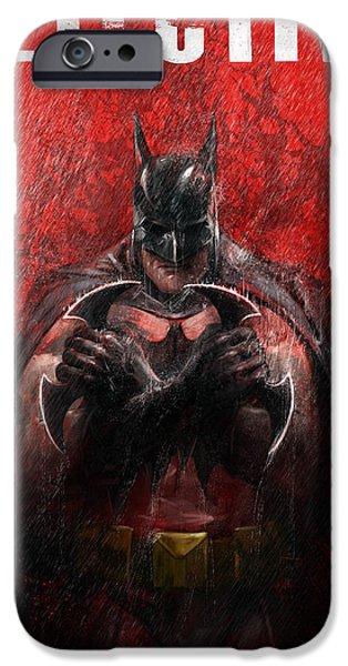 Bat Digital Art iPhone Cases - The Detective iPhone Case by Steve Goad