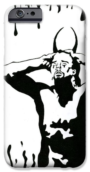 Angel Reliefs iPhone Cases - The Devil Cries Too iPhone Case by Kd Neeley