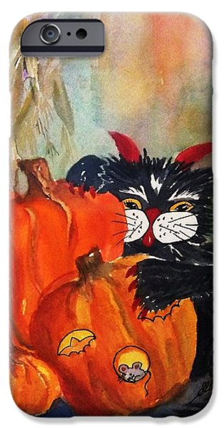 Farm Stand iPhone Cases - The Devil Made Me Do It iPhone Case by Ellen Levinson